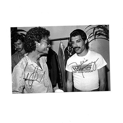 Freddie Mercury Queen Michael Jackson Autogramcard Autogrammkarte