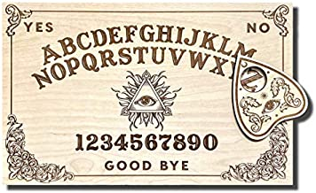 X-Small Wooden Ouija Board - Talking Board - Spirit Board - Small Size 11 x 7'' Handmade Wooden Premium Quality Board and Planchette