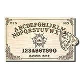 Medium Wooden Ouija Board - Talking Board - Spirit Board - Medium Size 14.5 x 9.2'' Handmade Wooden Premium Quality Board and Planchette