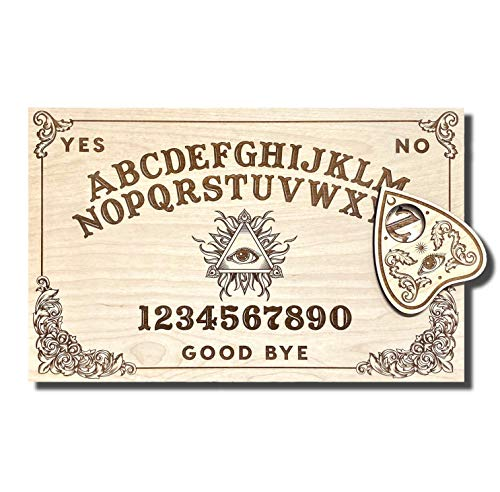 Medium Wooden Ouija Board - Talking Board - Spirit Board - Medium Size 14.5 x 9.2