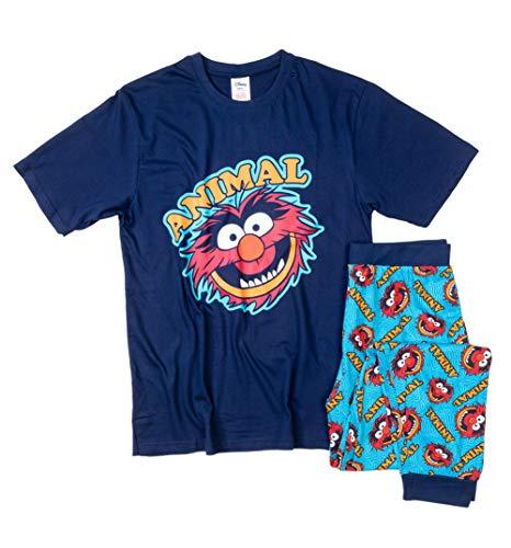 Mens Navy Muppets Animal Pyjamas