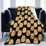 Comfy Soft I'm A Potato Cute Potatoes Throw Blanket, Sherpa Flannel Fleece Home Blanket Wearable Blanket, Queen Size Blankets for Bedroom Living Rooms Sofa Couch, 40'x50'