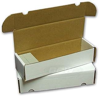 BCW 660 Count- Corrugated Cardboard Storage Box - Baseball, Football, Basketball, Hockey, Nascar, Sportscards, Gaming & Trading Cards Collecting Supplies (5 Boxes)