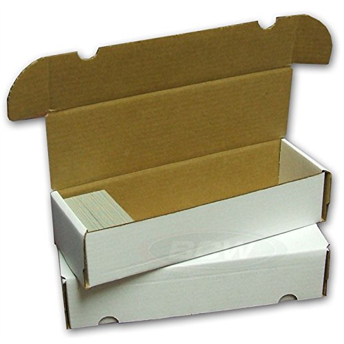 BCW 660 Count- Corrugated Cardboard Storage Box - Baseball, Football, Basketball, Hockey, Nascar, Sportscards, Gaming & Trading Cards Collecting Supplies (5 Boxes)