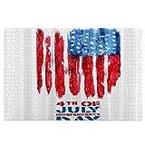 Rompecabezas de madera de 1000 piezas para adultos bandera de Estados Unidos Cuarto de julio Feliz Día de la Independencia Americana Grandes Puzzles de Arte Adolescentes