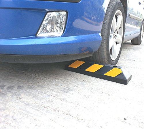 Einzel Gummi Parkplatzbegrenzung für Parkplätze und Garagen 55x15x10cm - 6