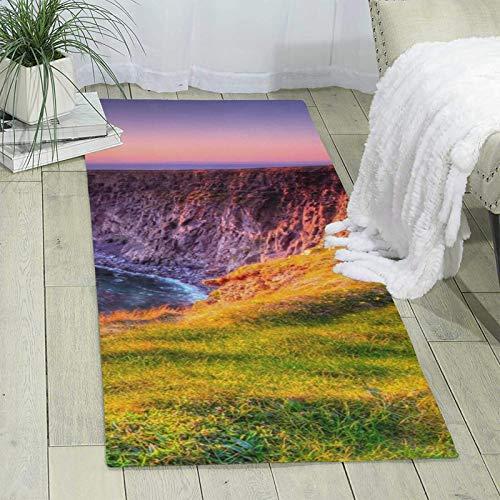 Alfombra Irlanda Sunset Seascape Area Alfombra Sala Dormitorio Alfombra Hogar Corredor Piso Oficina Suave Antideslizante Lavable Alfombra 176 x 60,9 cm
