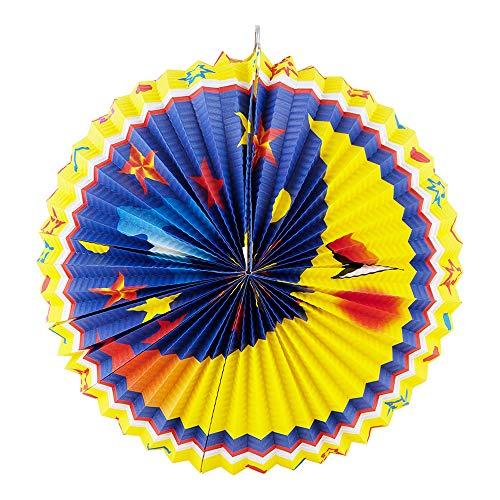Idena 8312527 - Laterne Mond, Durchmesser 40 cm, Papier, Lampion, St. Martin, Lichterfest, Laternenumzug, Advent, Weihnachten, Dekoration