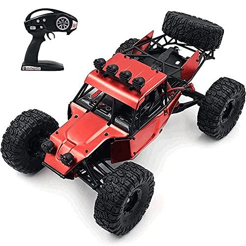 YAMMY Vehículo RC Todoterreno 4WD Cepillado a Escala 1/12 2.4G Coche de Control Remoto inalámbrico de Deriva Coche de Alta Velocidad 4WD Racing RC Car All Terr (Coche RC Inteligente)