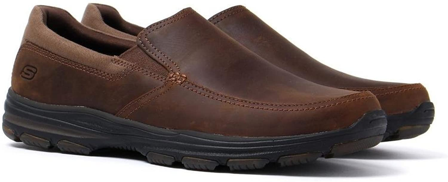 Skechers Skechers Skechers Garton Venco Dark braun Leather Loafers  60e86d
