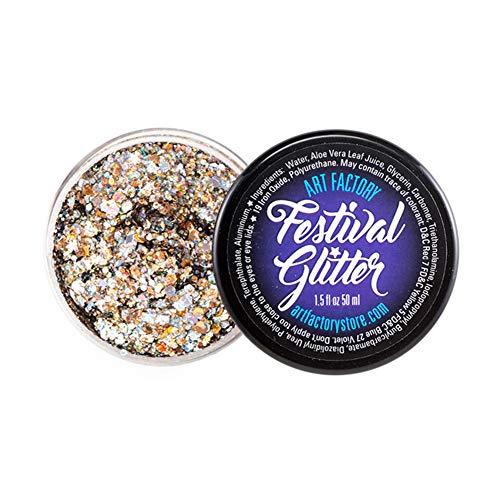 Festival de Arte de fábrica del brillo - Champagne (50 ml / 1 onzas líquidas), cosmética del gel del brillo