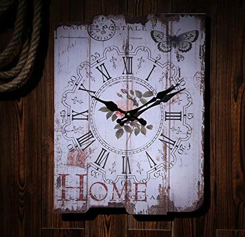 Shabby Chic Reloj De Pared Números Romanos Relojes De Pared Digitales para Regalo Hogar Oficina Cocina Vivero Sala De Estar Dormitorio
