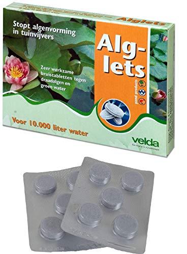 velda 10 Stück Alglets Fadenalgen, Schleim-Algen, Algenvernichter (für 10.000 Ltr.)