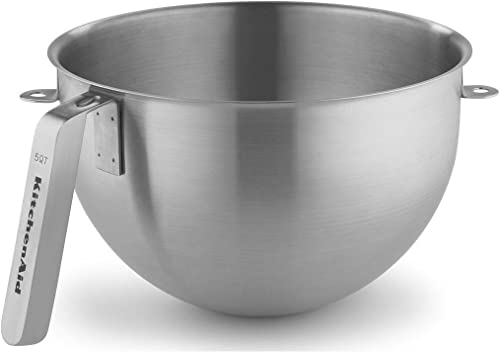 new arrival KitchenAid KSMC5QBOWL new arrival 5-Quart Mixing Bowl with J Hook Handle, outlet online sale Stainless Steel, NSF online sale