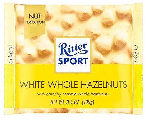 Ritter Sport biała czekolada z pełnymi orzechami laskowymi 5 x 100 g