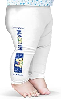 TWISTED ENVY Baby I Love Los Angeles Baseball Leggings Trousers 18-24 Months White