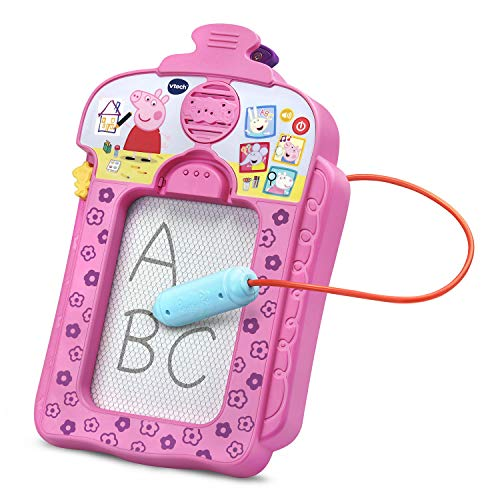 VTech Peppa Pig Scribbles & Sounds Doodle Board, Pink