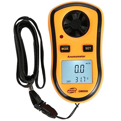 Anemómetro Medidor de Velocidad Viento Aire Anemómetro, monitores meteorológicos, medidores de flujo de aire, calidad del aire, medidor de velocidad del viento de mano instrumento de prueba de viento