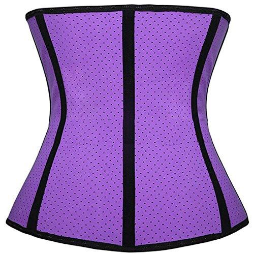 BOLAWOO-77 Damen Korsett Training Sport Unterbrust Corsage Unterbrust Taillenmieder Bauch Weg Body Shaper Training Corsage (Color : Lila, Size : 3XL)