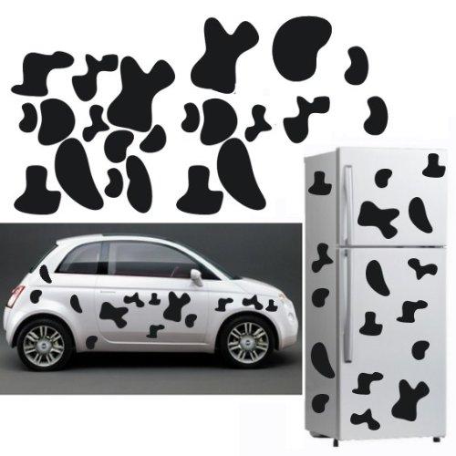 Decooo.be Sticker Mural Vachement Taches! (Sticker Noir)