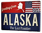 LEotiE SINCE 2004 Blechschild Abenteurer Grüße aus Alaska