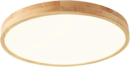 LanXi LED plafondlamp ronde houten lamp moderne inbouwlamp voor keuken, woonkamer, slaapkamer, studeerkamer (warm licht, 5...