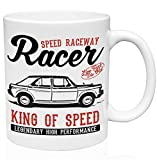 Morris 1100 1962 car racer king woldwide championship 11oz Taza de café de cerámica de alta calidad