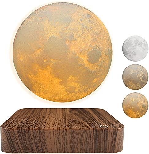 Levitating Moon - Lámpara de luna flotante magnética con 3 modos de color para oficina o dormitorio, decoración única