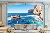 Fotomural 3D Crucero Por El Mediterráneo Romántico Mar Egeo Tv Fondo Papel Pintado Pintura De Pared