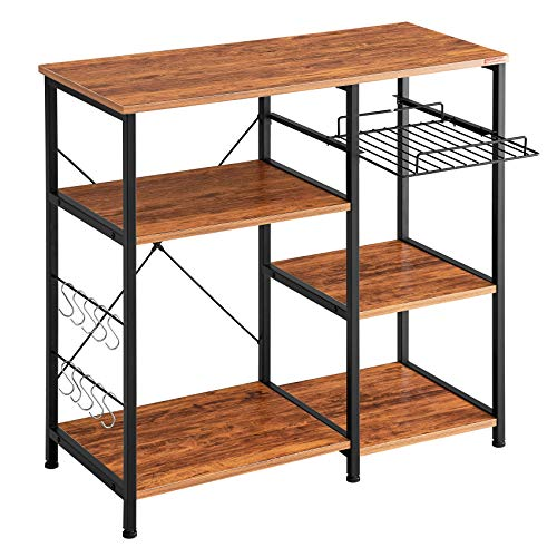 Mr IRONSTONE Kitchen Baker's Rack Vintage Utility Storage...