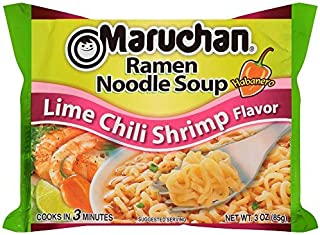 Maruchan Ramen, Lime Chili Shrimp, 3-Ounce Packages (Pack of 24)