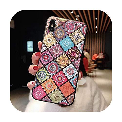 Apple iPhone 6s H/ülle Premium Case Cover Dreiecke Vintage Pattern Muster