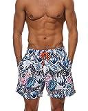 Elegante Bañadores para Hombre,Secado Rápido Verano Ocasional De Los Hombres Imprimió Transpirable Pantalones Cebra XL