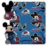 The Northwest Company NHL Colorado Avalanche Co-Brand Disney Mickey Mouse Hugger & Fleece Throw Set, 40