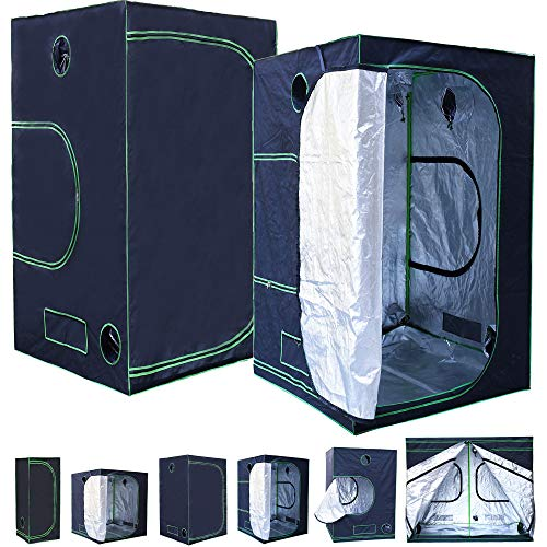 Rapid Teck® Grow Zelt (120 x 120 x 200 cm) Home Grow Tent | Indoor Growzelt | schwarz grün | Growroom Growschrank Darkroom Pflanzenzelt Gewächshaus Zuchtzelt Growzelt