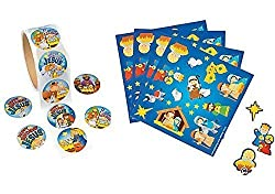 50 Nativity Scene Stickers and Happy Birthday Jesus Stickers