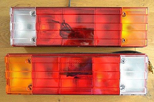 A1 2X Rücklicht Rückleuchten 12V 24V LKW Anhänger Typ Traktor Heckleuchte 5-Kammer-Leuchte Rückleuchte m NEU Rechts + Links Rücklicht Anhängerleuchten E-Prüfezeichen