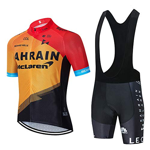 Completo Ciclismo Estivo Traspirante Asciugatura Veloce Abbigliamento Ciclismo Uomo con Pantaloncini Imbottiti in Gel Set Maglia MTB per Completi Ciclismo Squadre Estivi