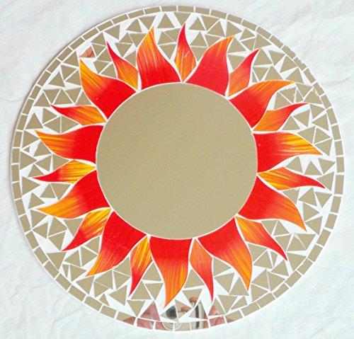 Miroir mural décoratif - En bois - 40 cm - Rond
