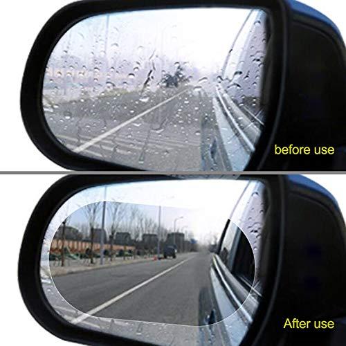 Happy Shop Rückspiegel Regenschutzfolie 2pcs 15 * 10cm Autoregenschutz Anti-Fog Film Protective Rückspiegel durchsichtige Folie Auto Anti-Nebel-Fenster-Film Ersatz