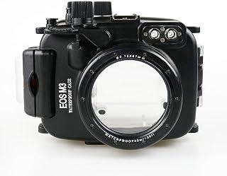 Sea Frogs 130フィート 水中カメラハウジング Canon EOS M3 22mmレンズ用 レッドフィルター付き