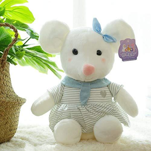 N / A Lindo ratón de Peluche de Juguete Relleno Suave Animal Almohada Kawaii Regalo de cumpleaños para niños Adorable muñeca 22cm