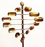 Stanwood cws-068-twirler Kinetic Lucky Spinner Wind Skulptur–Kupfer