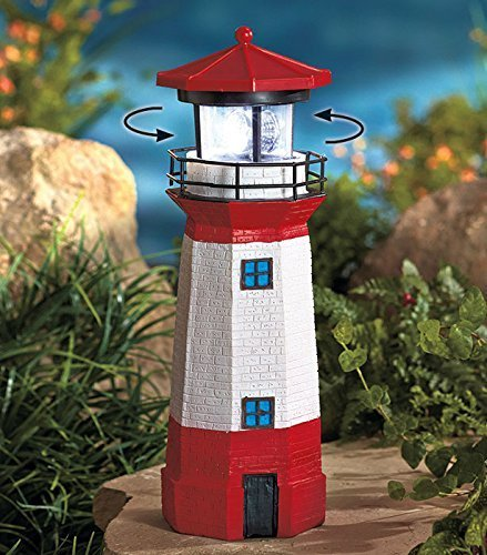 Jumbo Solar Lighthouse With Rotating Beacon