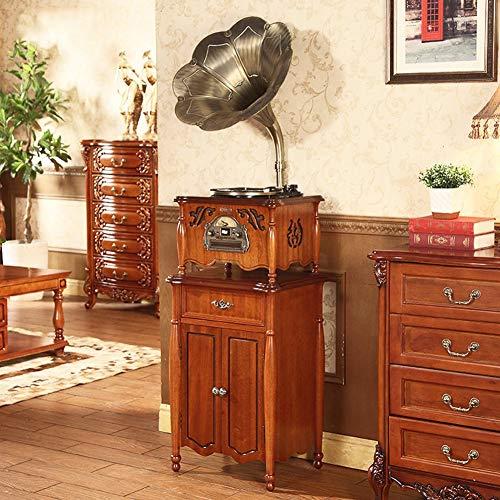 Daxiong Gramófono Retro Vinyl Player Antiguo Vintage Big Horn Record Player Sonido Decoración de la Sala de Estar 51Cm * 42Cm * 175Cm,B,51cm*42cm*175cm