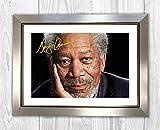 Engravia Digital Poster Morgan Freeman (2), signiert,
