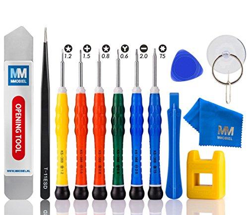 MMOBIEL Kit Destornilladores Antiestática 14 Pzas en 1, Incluye Y 0.6 Compatible con iPhone 12/12 Pro (MAX)/11/11 Pro (MAX)/SE 2020/XS (MAX)/XR/X/8 (Plus)/7 (Plus)