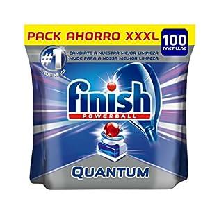 Finish Powerball Quantum Max - Pastillas para el lavavajillas, formato 100 unidades