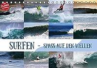 Surfen - Spass auf den Wellen (Tischkalender 2020 DIN A5 quer): Surf-Spass fuer zuhause (Geburtstagskalender, 14 Seiten )