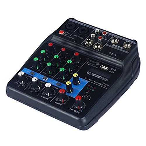 NOBLJX Mezclador estéreo para Equipos DJ Compacto de Canal Profesional Mesa de...